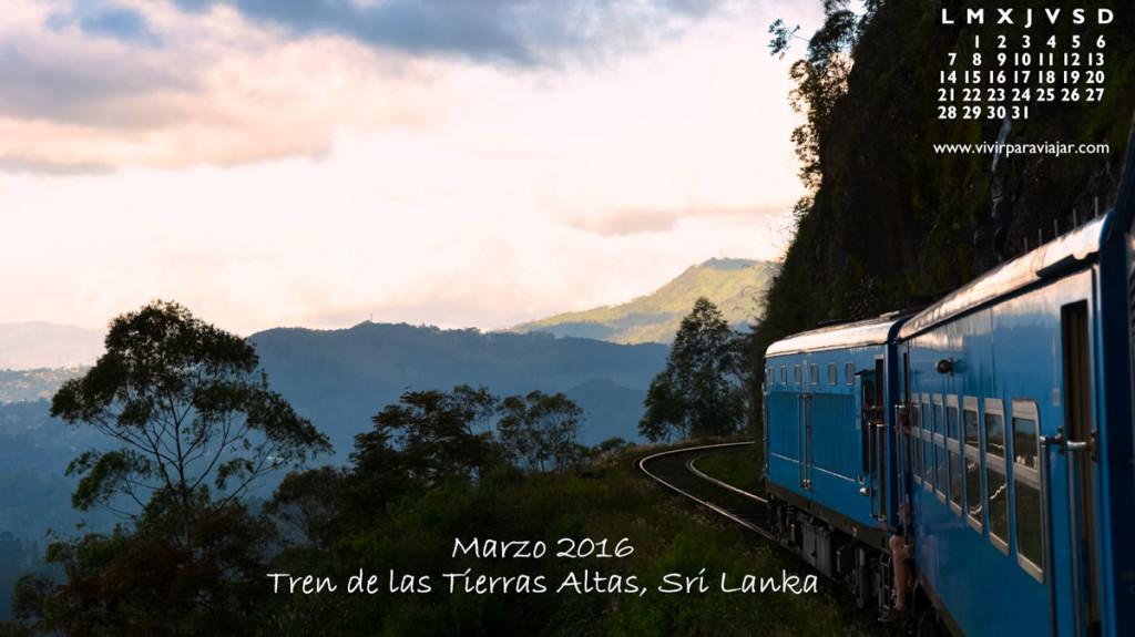 Calendario 2016 Vivir para Viajar 03 Marzo