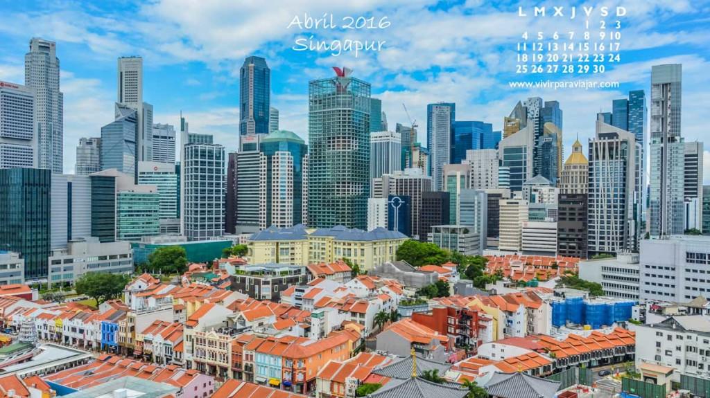 Calendario 2016 Vivir para Viajar 04 Abril
