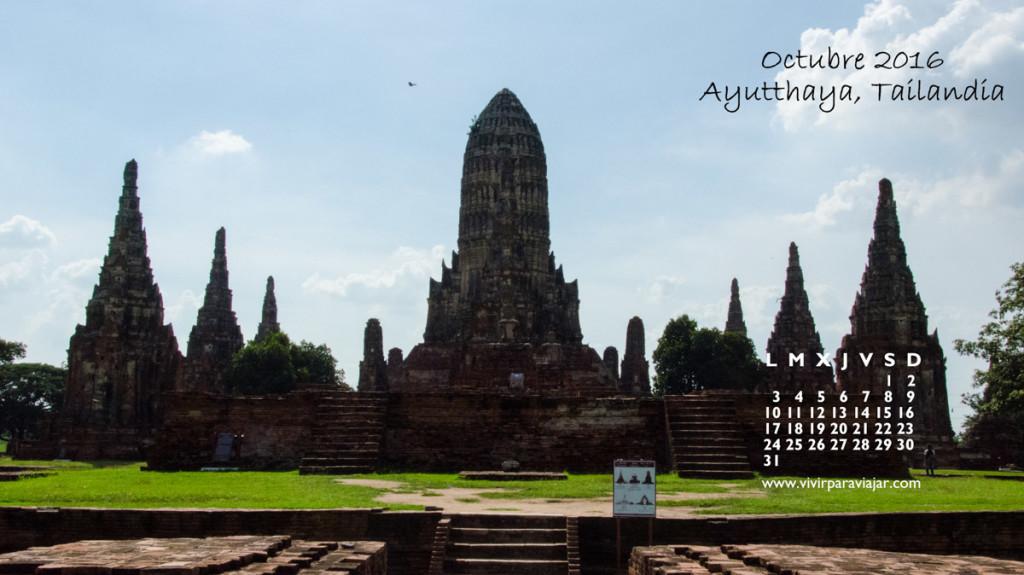Calendario 2016 Vivir para Viajar 10 Octubre