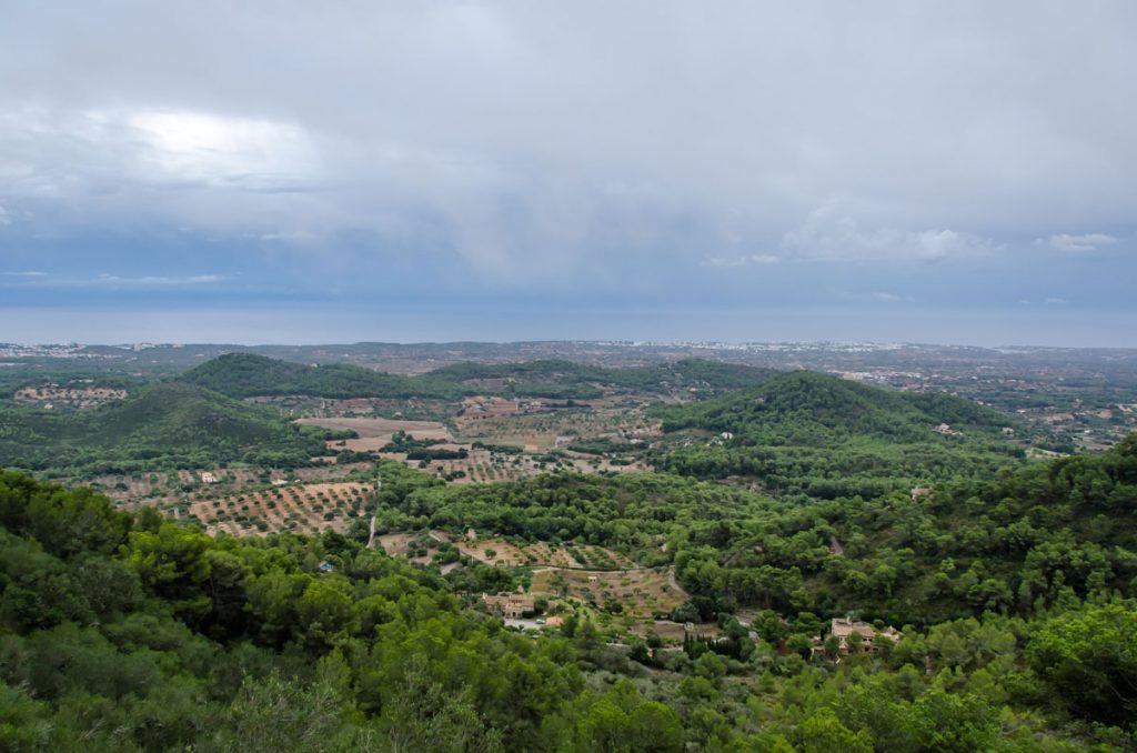 Vistas de las Calas de Mallorca desde el Castillo de Santueri