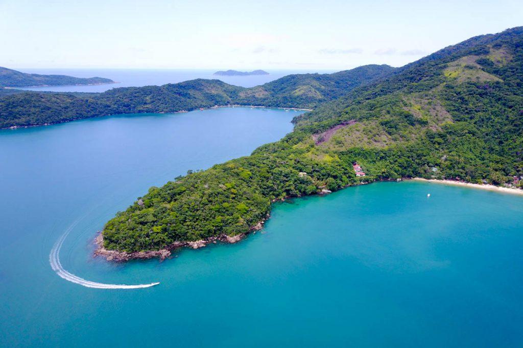 ilha grande brasil a vista de drone