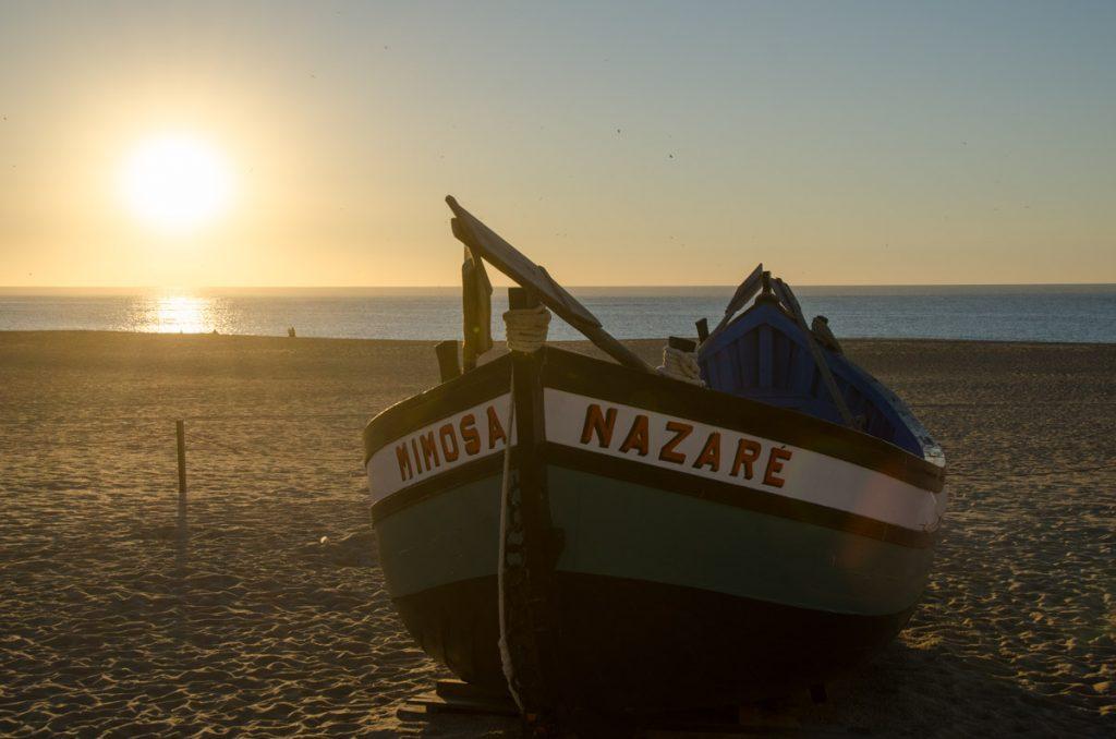 barca tipica de Nazare