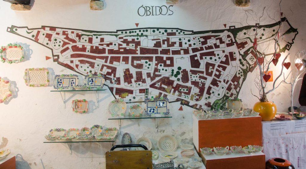 mapa de Obidos