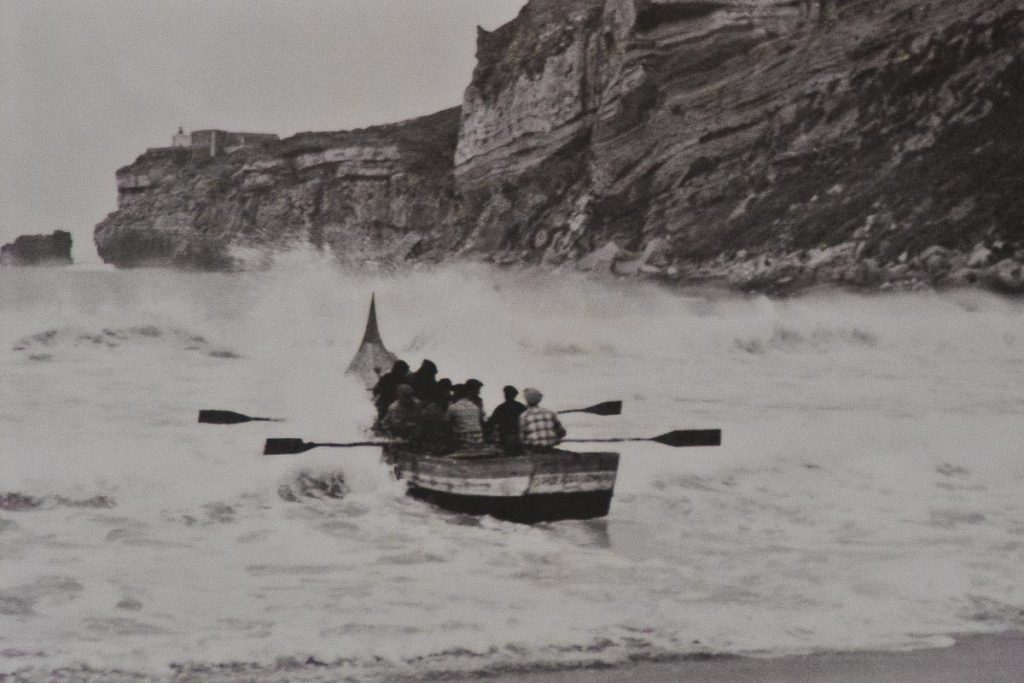 pescadores tradicionales en Nazare