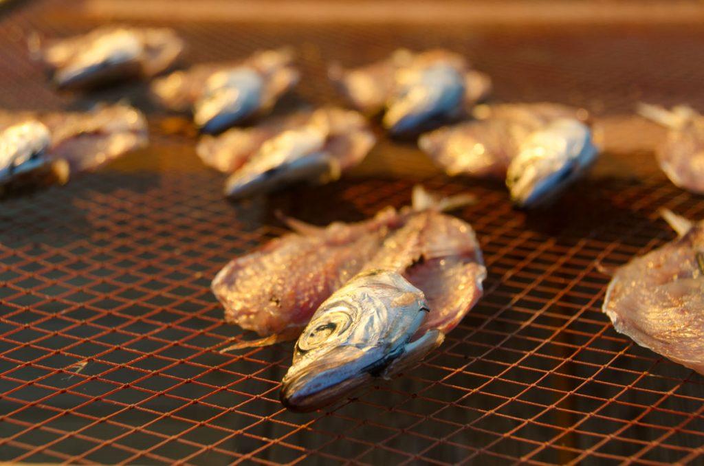 secado de pescado en Nazare