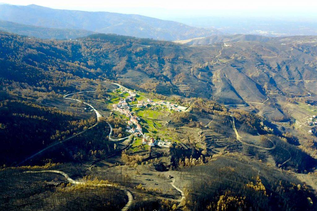 zona quemada cerca de piodao