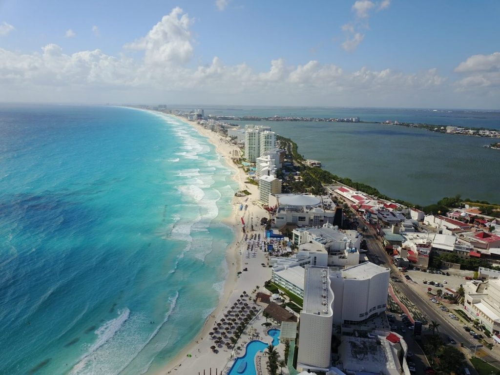 Cancun a vista de dron