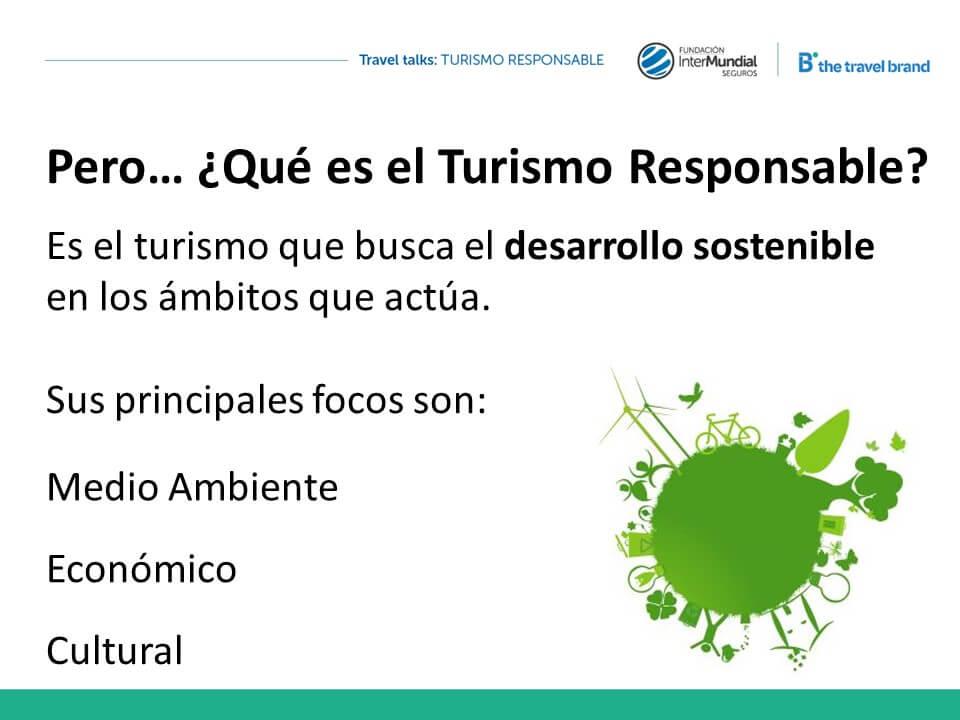 Que es el Turismo Responsable